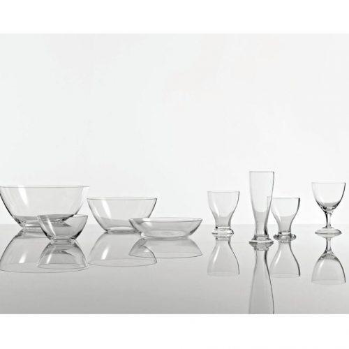 Driade The white snow glass flute per champagne